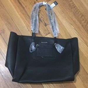 Black Tahari tote bag NWT